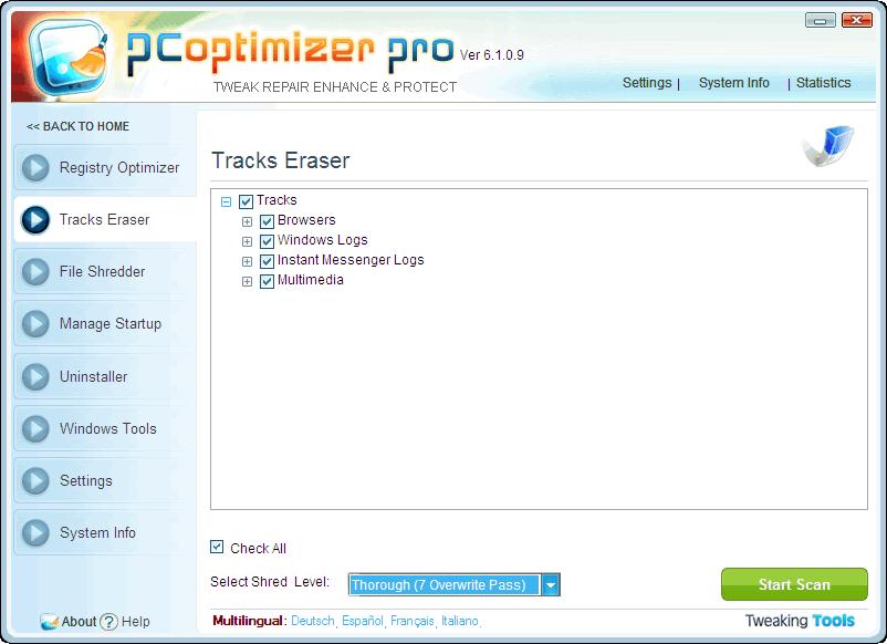 PC OPTIMIZER PRO RUS СКАЧАТЬ БЕСПЛАТНО